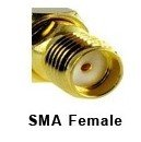 SMA-female, used on units.